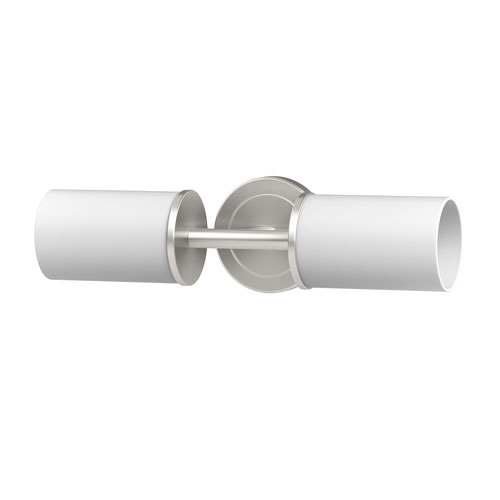 Latitude II Double Sconce Satin Nickel