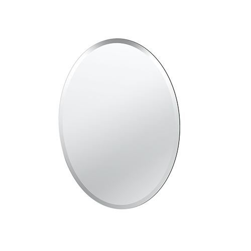 Flush Mount Oval Frameless Regular Mirror