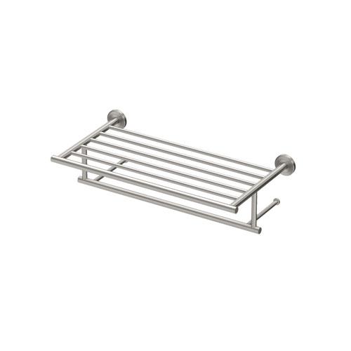 Gatco Latitude II 18-Inch Minimalist Towel Rack in Satin Nickel