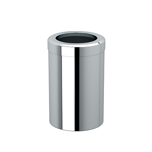 Round Modern Bathroom, Kitchen, Office, Waste and Trash Can Bin Chrome