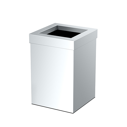 Rectangle Modern Bathroom, Kitchen, Office, Waste and Trash Can Bin Chrome
