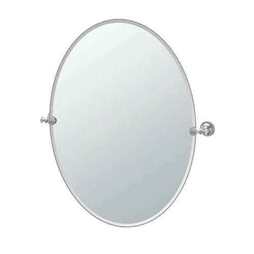 Tavern Large Oval Mirror Satin Nickel