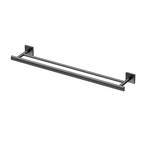 Gatco Elevate 24-Inch Double Towel Bar Matte Black