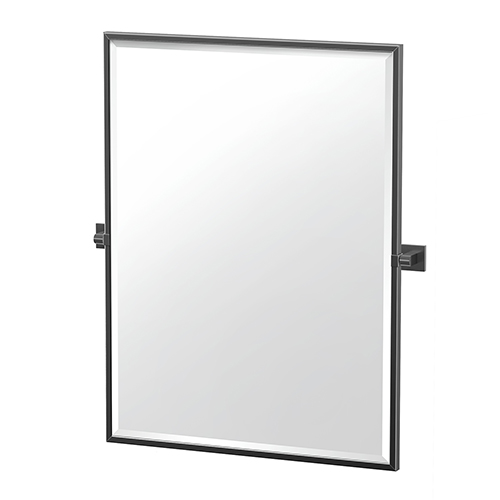 Elevate 32.5-Inch Framed Rectangle Mirror Matte Black