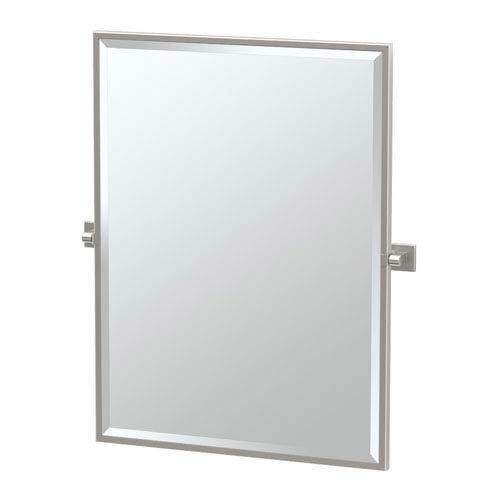 Gatco Elevate Satin Nickel Framed Rectangle Mirror