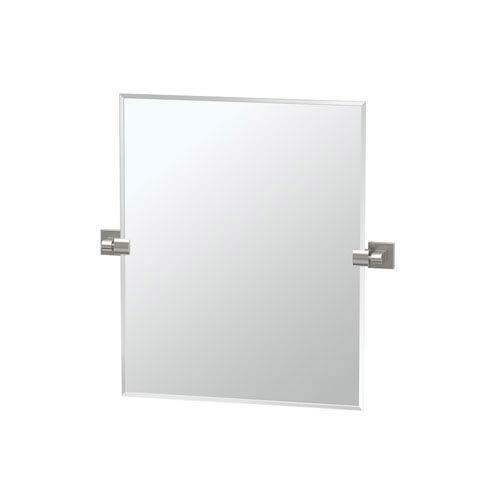 Elevate Satin Nickel Small Rectangle Mirror