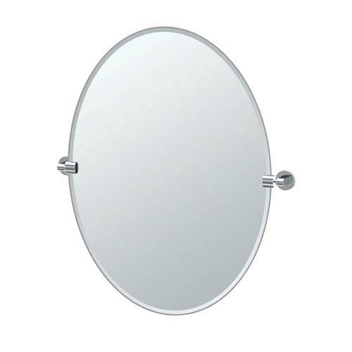 Gatco Zone Chrome Large Oval Mirror