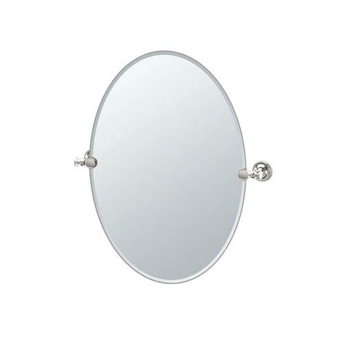 Tavern Polished Nickel Oval Mirror