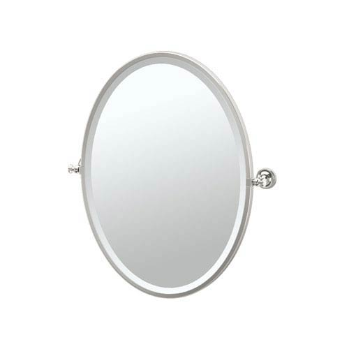 Tavern Polished Nickel Framed Oval Mirror