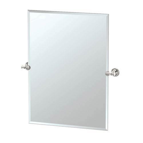 Tavern Polished Nickel Rectangular Mirror