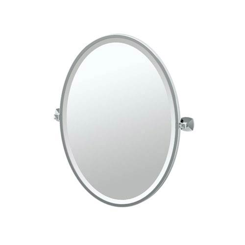 Chrome Frame Oval Bathroom Mirror Bellacor