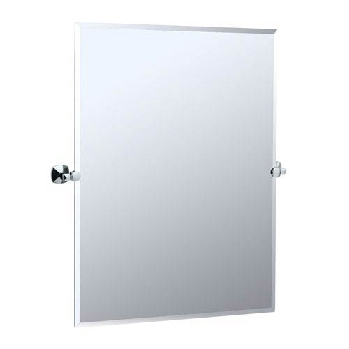 Gatco jewel chrome tilting rectangular mirror 4149s bellacor - Wall mounted tilting bathroom mirrors ...