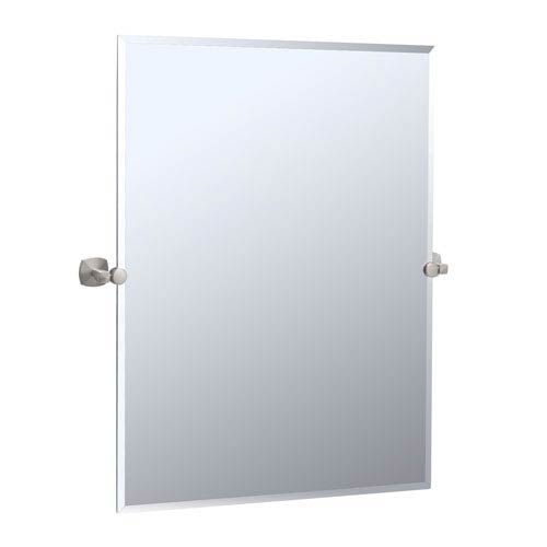 Jewel Satin Nickel Tilting Rectangular Mirror