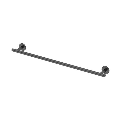 Gatco Latitude II Matte Black 24-Inch Towel Bar