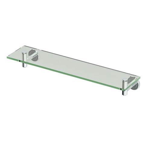 Latitude II Chrome Glass Shelf