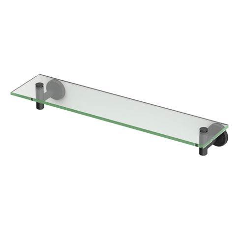 Latitude II Matte Black Glass Shelf