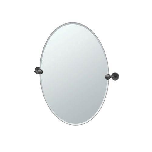 Latitude II Oval Mirror Matte Black