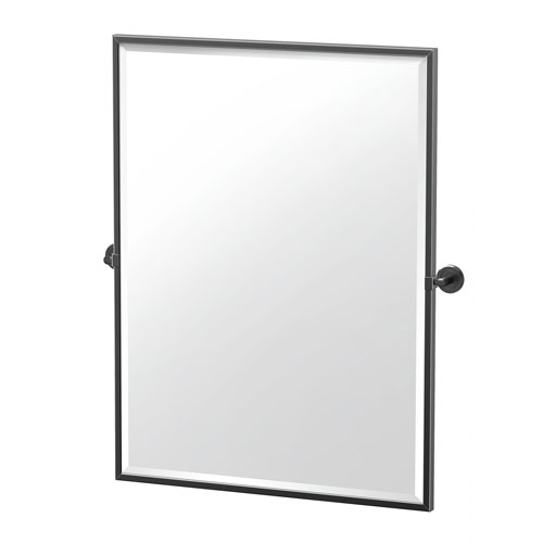Latitude II 32.5-Inch Framed Rectangle Mirror Matte Black