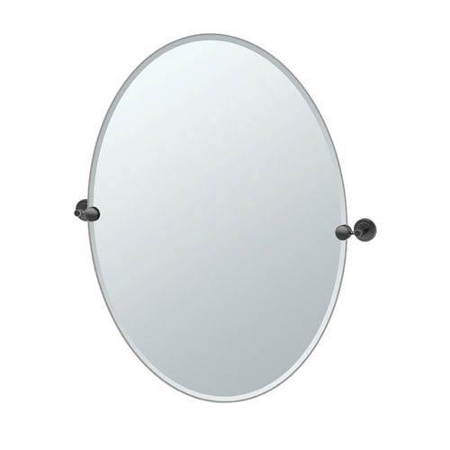 Latitude II Large Oval Mirror Matte Black