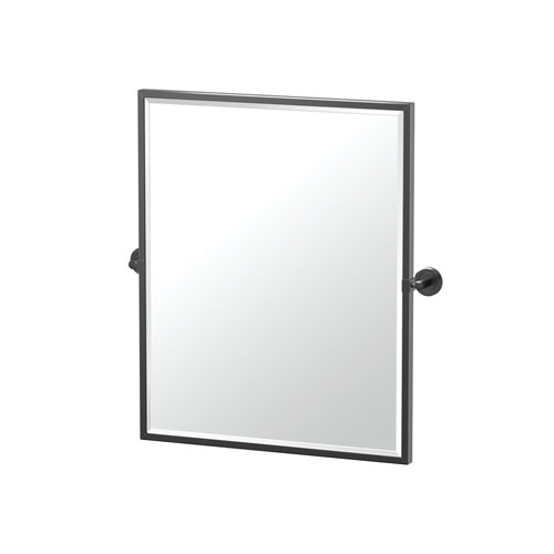 Latitude II 25-Inch Framed Rectangle Mirror Matte Black
