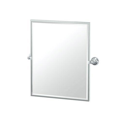 Tiara Framed Small Rectangle Mirror Chrome