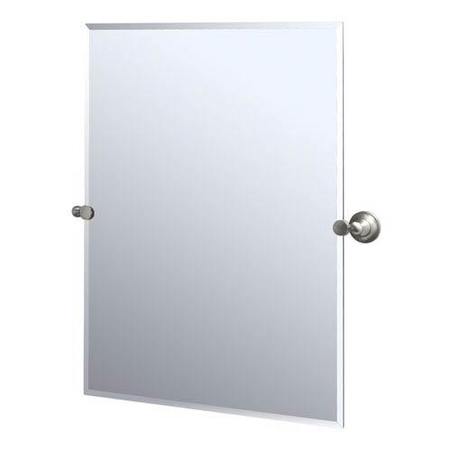 Tiara Satin Nickel Tilting Rectangular Mirror
