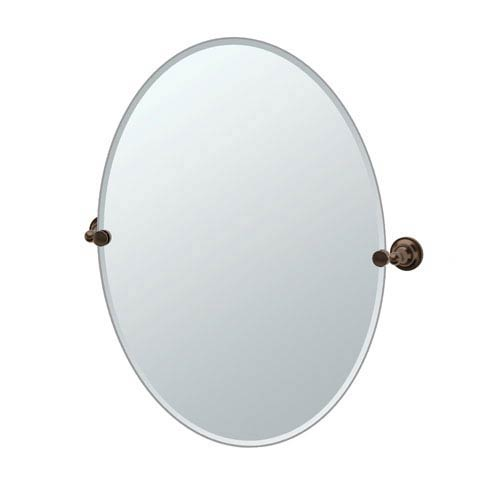 Tiara Bronze Large Tilting Oval Mirror