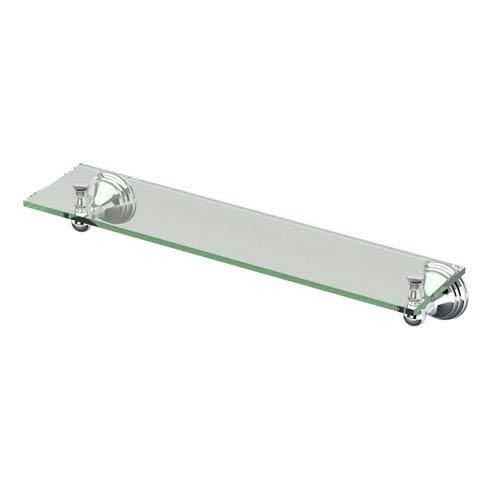 Charlotte Chrome Glass Shelf