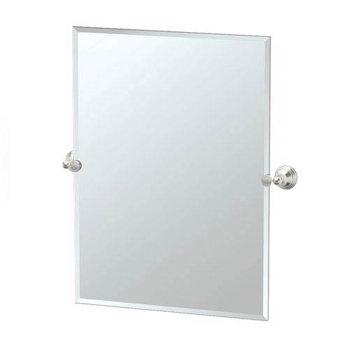 Charlotte Satin Nickel Tilting Rectangular Mirror