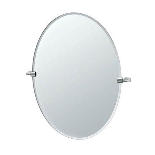 Bleu Chrome Large Oval Mirror
