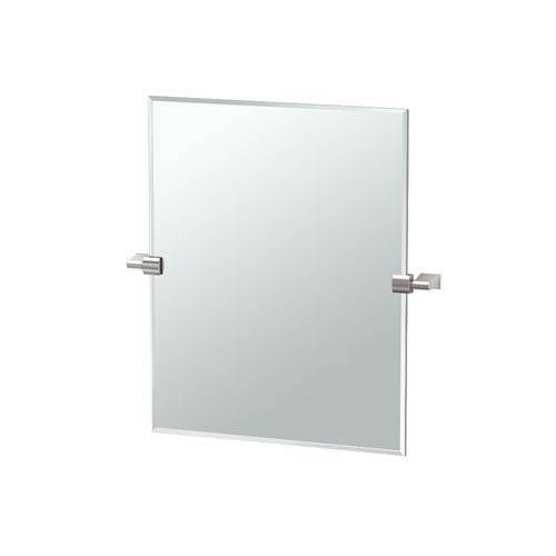 Gatco Bleu Satin Nickel Small Rectangle Mirror