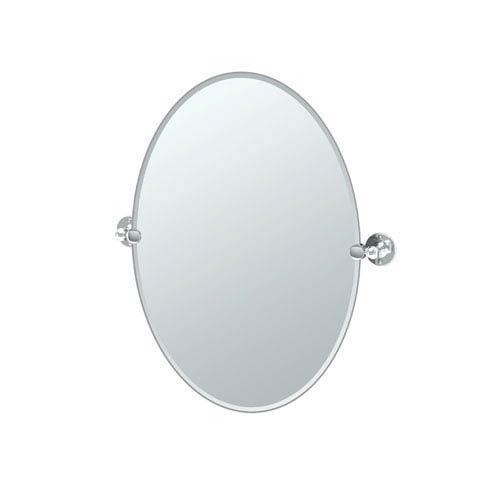 Cafe Chrome Oval Mirror
