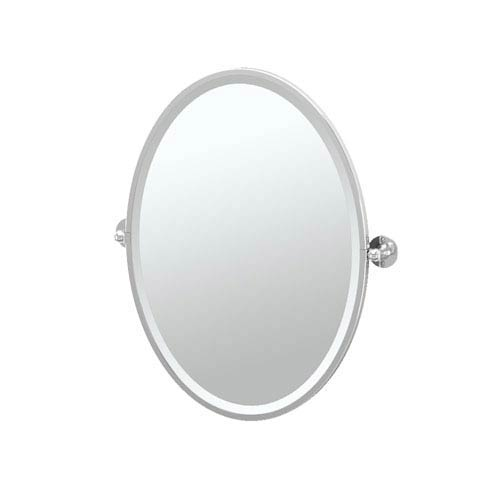 Cafe Chrome Framed Oval Mirror