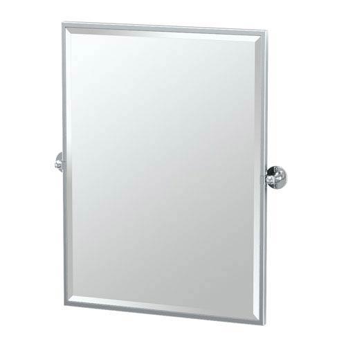 Cafe Chrome Framed Rectangle Mirror