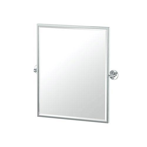 Gatco Café Framed Small Rectangle Mirror Chrome