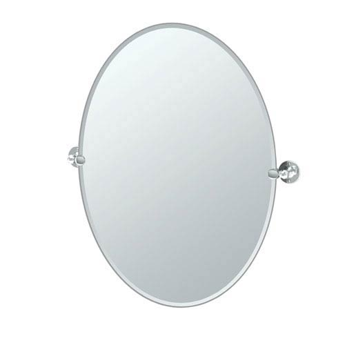 Gatco Cafe Chrome Large Oval Mirror