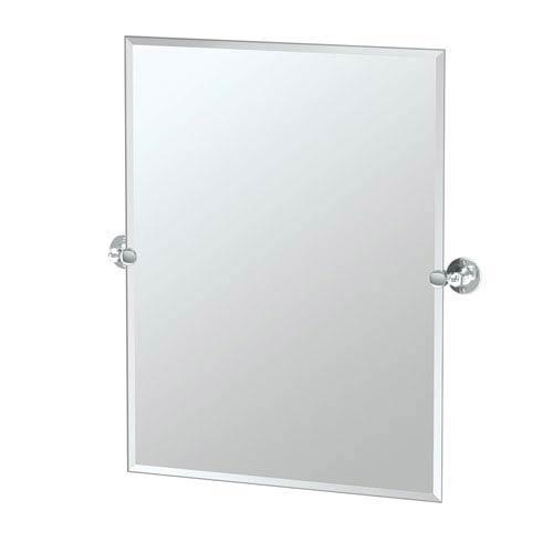 Gatco Café Chrome Rectangular Beveled Pivot Mirror