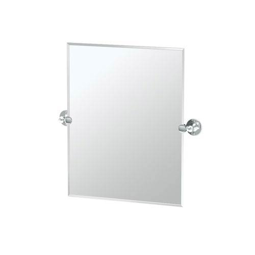 Gatco Cafe Chrome Small Rectangle Mirror