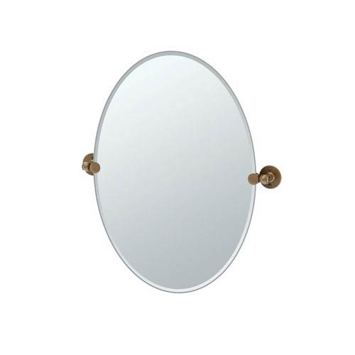 Cafe Bronze Oval Mirror