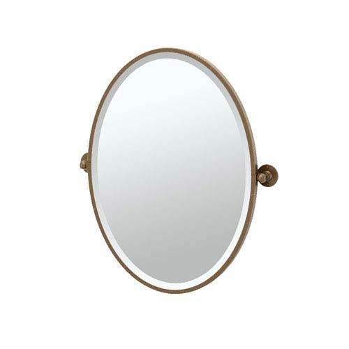 Cafe Bronze Framed Oval Mirror