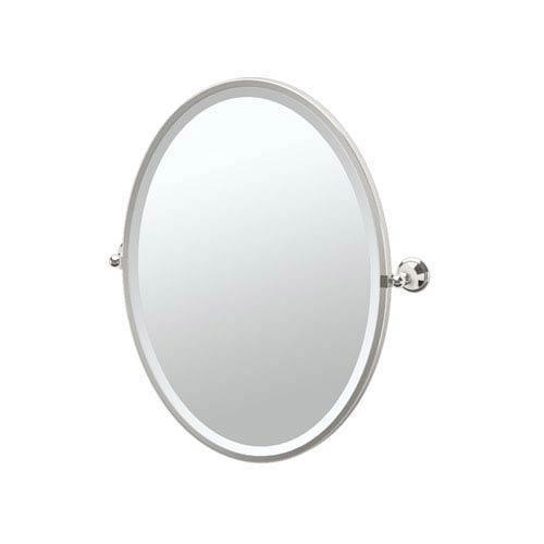 Laurel Ave Polished Nickel Framed Oval Mirror