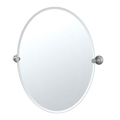 Superieur Polished Nickel Large Tilting Oval Mirror