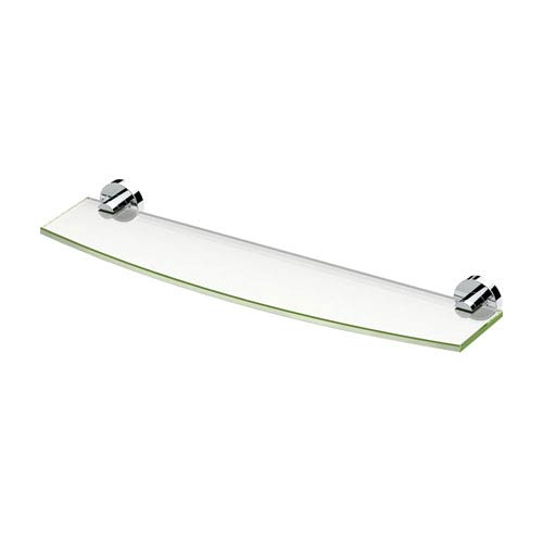 Glam Glass Shelf Chrome