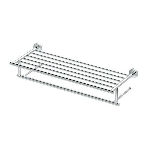 Glam Minimalist Spa Rack Chrome