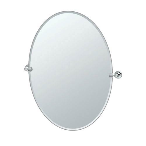 Glam Large Oval Mirror Chrome