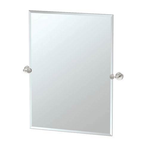 Glam Large Rectangle Mirror Satin Nickel