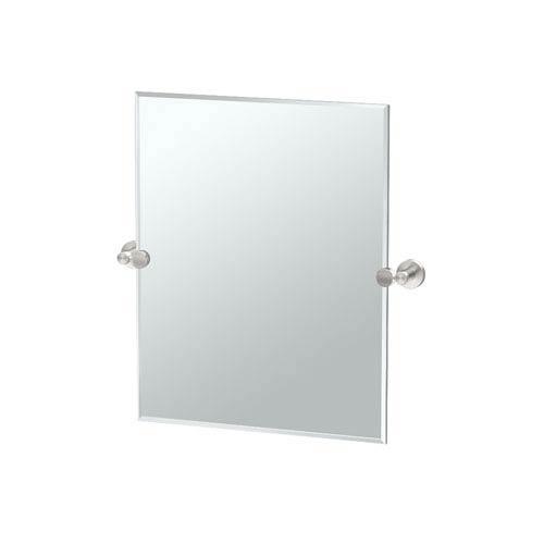 Glam Small Rectangle Mirror Satin Nickel