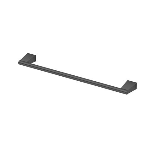 Gatco Bleu Matte Black 18-Inch Towel Bar