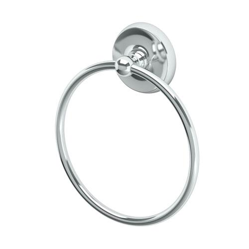 Designer II Chrome Towel Ring