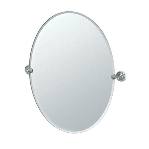Designer II Chrome Large Oval Mirror